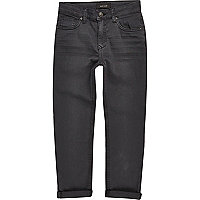 Boys dark grey Dylan slim jeans