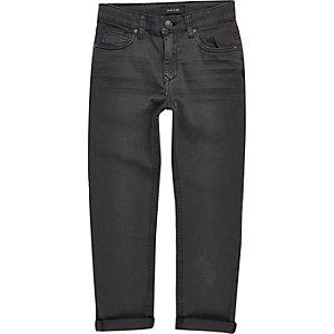 Dylan - Donkergrijze smalle jeans voor jongens