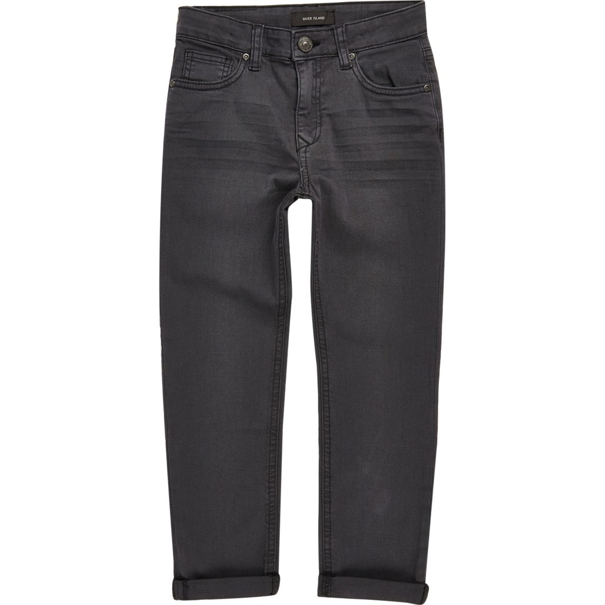 Boys dark grey Dylan slim jeans