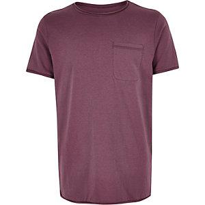 Boys mauve textured t-shirt