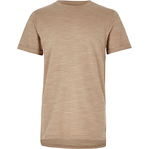 Boys stone textured t-shirt