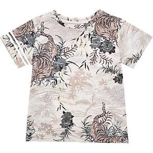 T-shirt imprimé oriental orange mini garçon