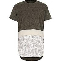 Boys white camo block print T-shirt