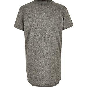 T-shirt gris à ourlet arrondi pour garçon