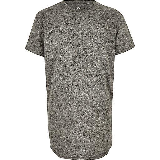 T-shirt gris à ourlet arrondi garçon