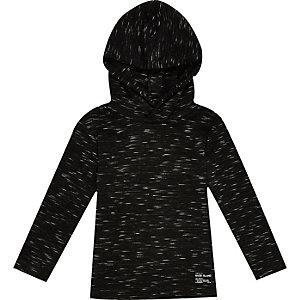 Mini boys black lightweight hoodie
