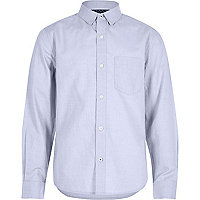 Boys light blue Oxford shirt