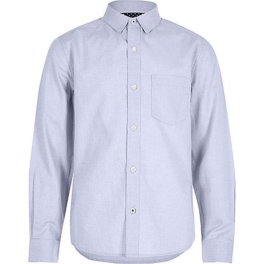 Chemise Oxford bleu clair pour garçon
