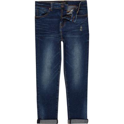Dylan Donkerblauwe wash smalle jeans voor jongens