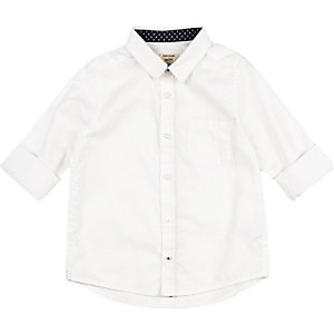 Mini boys white Oxford shirt