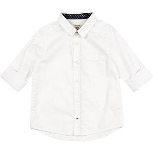 Chemise Oxford blanche mini garçon