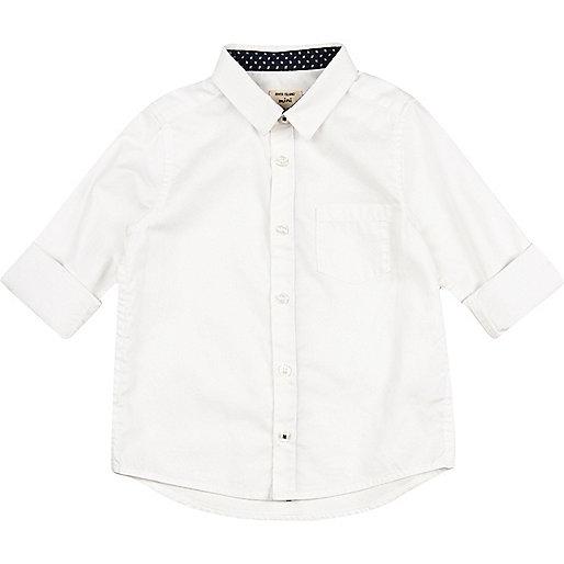 Mini boys white Oxford shirt