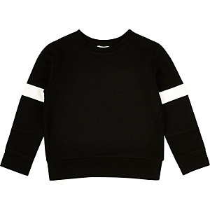 Mini boys black stripe sweater