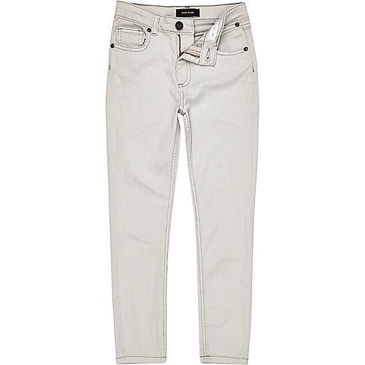 Boys ecru Sid skinny jeans