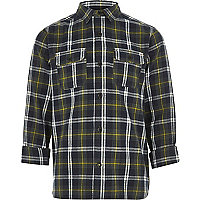 Boys green check shirt