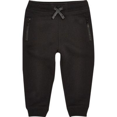 Zwarte katoenen joggingbroek voor mini boys