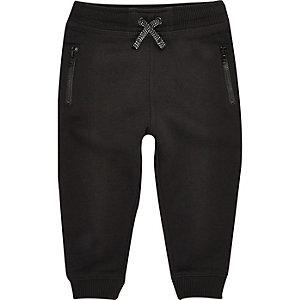 Mini boys black cotton joggers