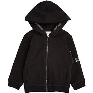 Zwarte katoenen hoodie voor mini boys