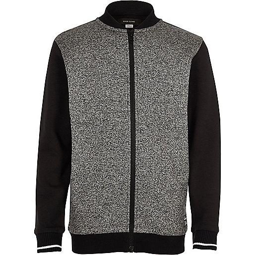 Boys grey grindle bomber jacket