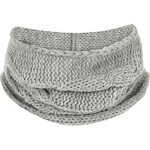 Boys grey knit snood