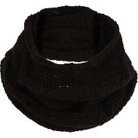 Boys black knit snood