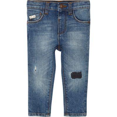 Sid blauwe ripped skinny jeans voor mini boys