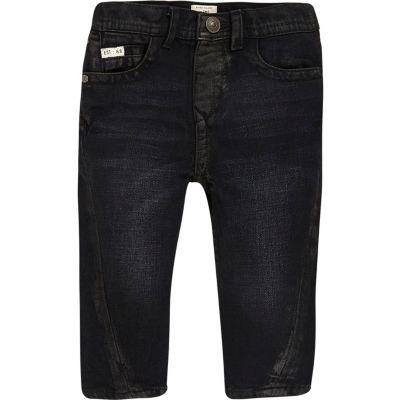 Donkerblauwe jeans met naaddetail voor mini boys
