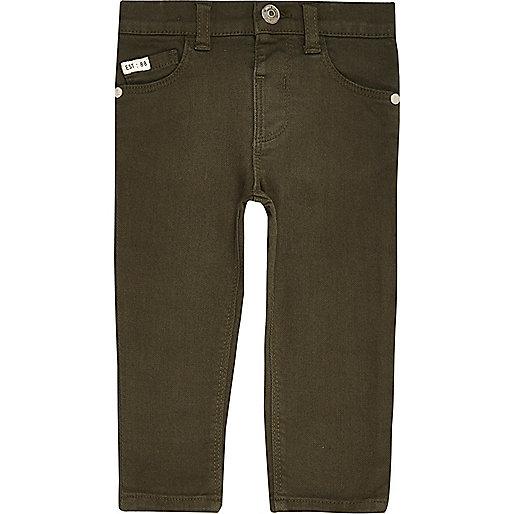 Skinny Jeans in Khaki