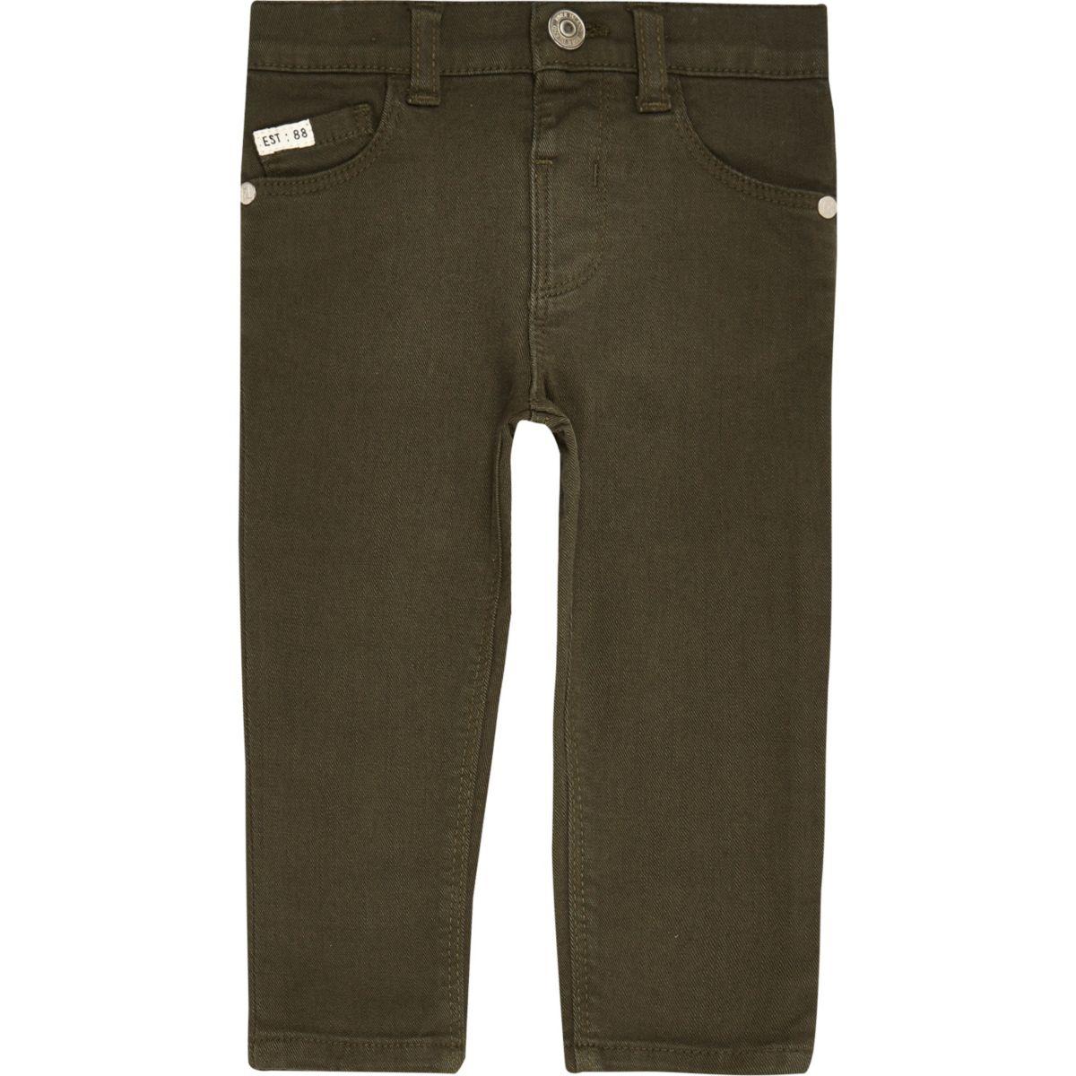 Mini boys khaki skinny jeans