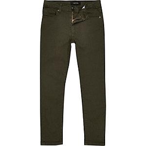Boys khaki Sid skinny jeans