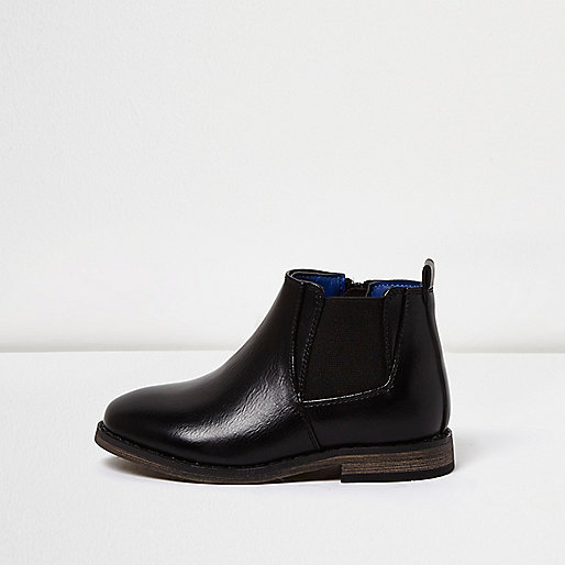 Mini boys black Chelsea boots