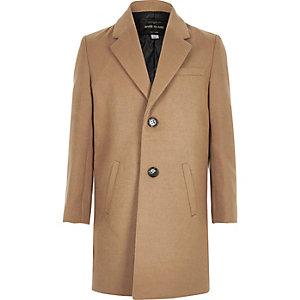 Boys stone oversized overcoat