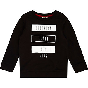 Mini boys black Brooklyn print T-shirt