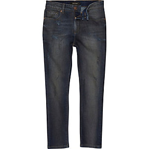 Boys blue washed Sid skinny jeans