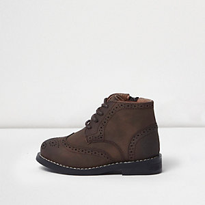 Bottines Richelieu marron mini garçon