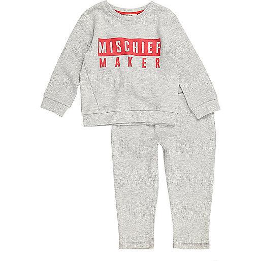 Mini boys grey mischief maker set