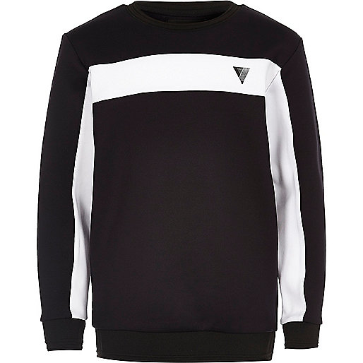 Boys navy color block sweatshirt