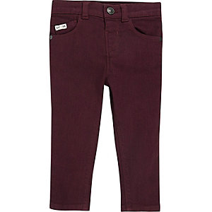 Mini boys red skinny jeans
