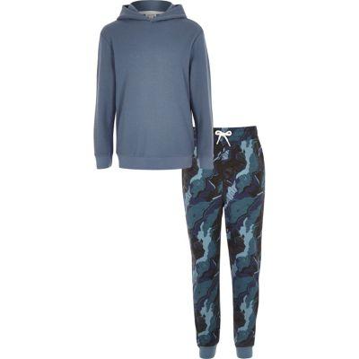 Loungeset met hoodie met camouflageprint en joggingbroek voor jongens