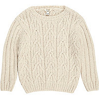 Mini boys cable knit jumper