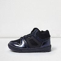 Mini boys metallic blue sports hi tops