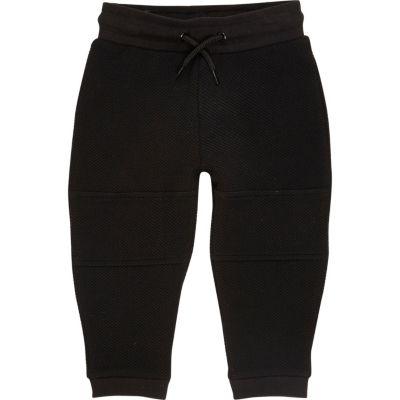 Zwarte joggingbroek met textuur voor mini boys