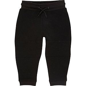 Pantalon de jogging noir texturé mini garçon