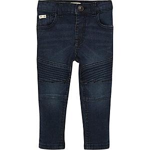 Mini boys dusty blue biker skinny jeans