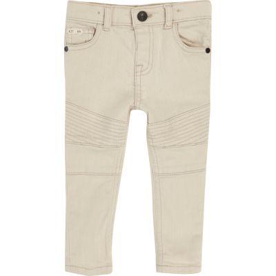 Witte biker skinny jeans voor mini boys