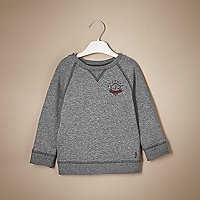 Sweat gris chiné mini garçon