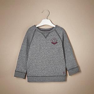 Mini boys grey marl sweatshirt
