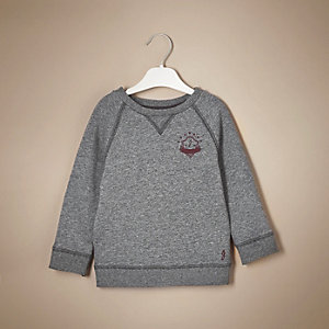 Mini boys grey marl sweatshirt