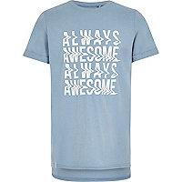 Boys light blue always awesome T-shirt