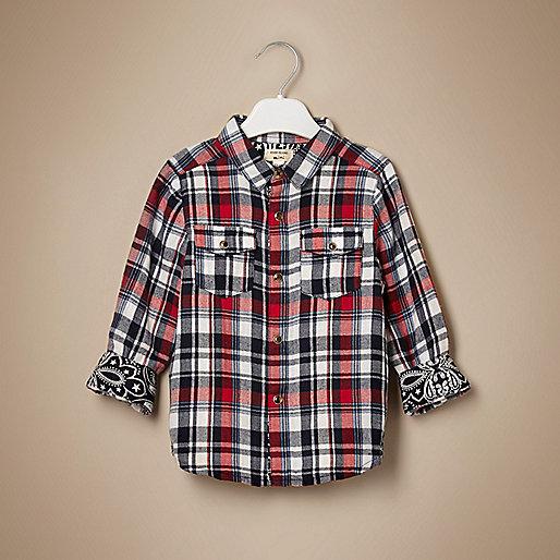 Mini Jungen – Rot kariertes Hemd